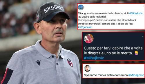 """Gli insulti choc a Mihajlovic: """"Malato mentale, meriti la morte"""""""