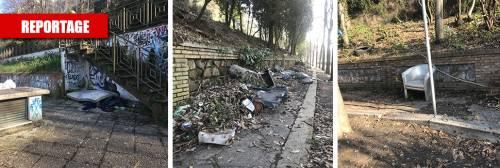A Roma è degrado senza fine: una discarica pure ai Parioli