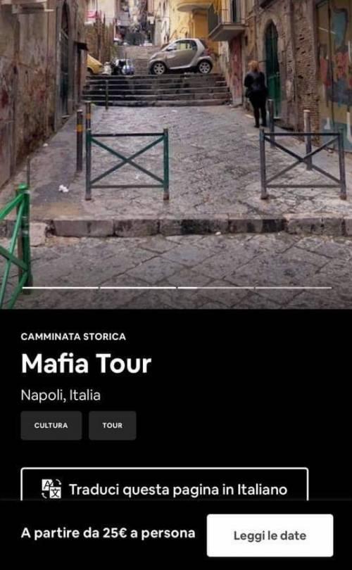 """Un """"Tour della Mafia"""" tra i vicoli del centro storico: è polemica per l'iniziativa di un internauta"""