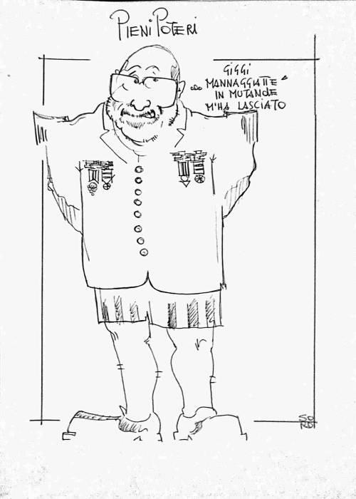 La vignetta del giorno: Gigino lascia pieni poteri a Crimi