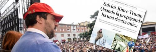L'ultima follia di Repubblica: Salvini come Kim Jong-un