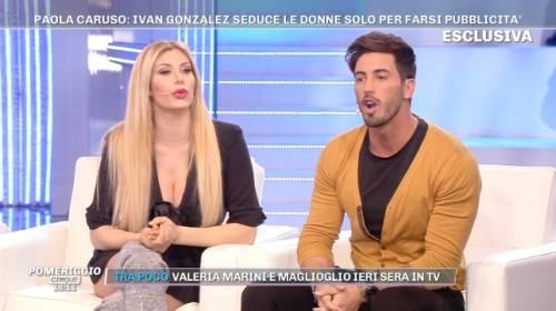 """Ivan Gonzalez sbugiarda Paola Caruso: """"Mai dormito insieme, non mi è mai piaciuta"""""""