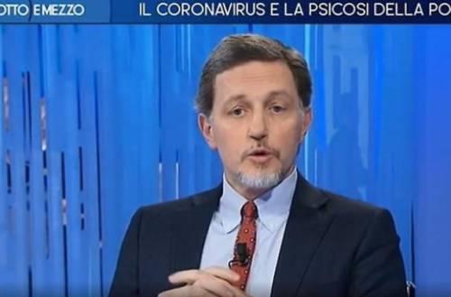 """Otto e mezzo, Massimo Giannini: """"Coronavirus? L'untore è Matteo Salvini"""""""