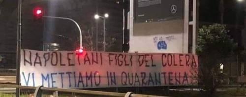 """""""Napoletani figli del colera vi mettiamo in quarantena"""": lo striscione choc dei tifosi dell'Inter"""