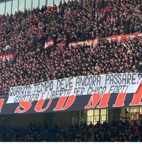 Milan, l'appello della Curva Sud: ''Giustizia e libertà per Chico Forti''