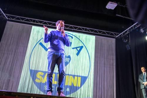 La kermesse della Lega a Palermo: Salvini accolto dai simpatizzanti 3