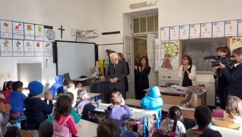 Mattarella nella scuola multietnica della Chinatown romana