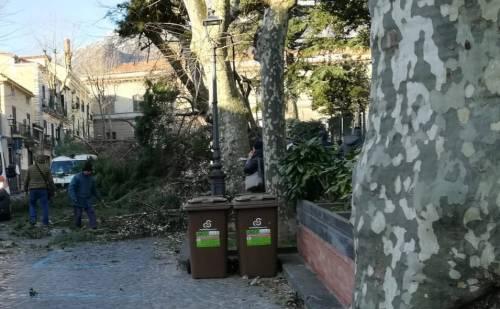 Salerno, cade un albero per il maltempo e uccide un 65enne