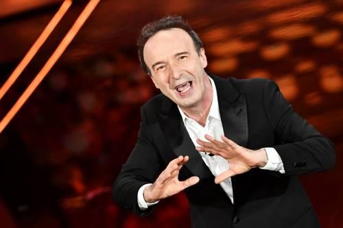 Roberto Benigni si prende la scena a Sanremo 7