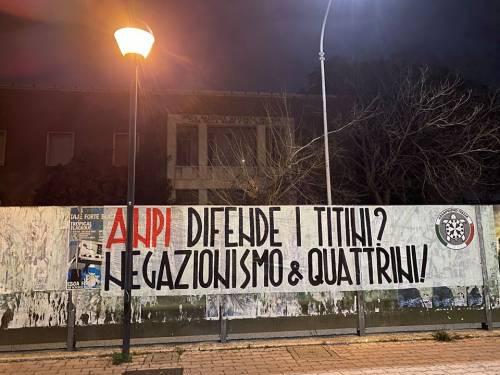 """Foibe, CasaPound contro l'Anpi: """"Fanno negazionismo"""""""