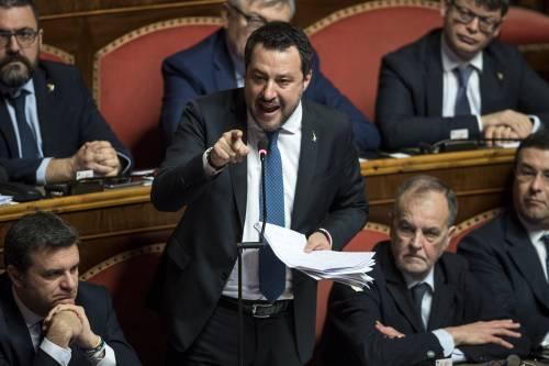 Caso Gregoretti, Salvini parla al Senato 3