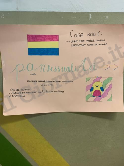 I cartelli al liceo Laura Bassi durante l'assemblea di istituto 3