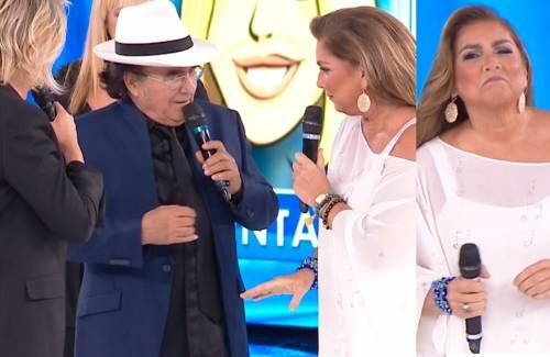 """Amici, Romina Power punzecchia Al Bano Carrisi: """"Ma hai lasciato la sciarpa copri-panza a casa?"""""""