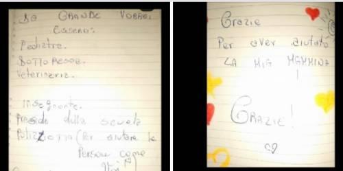 Dopo la violenza in casa la lettera: fratellini ringraziano la polizia
