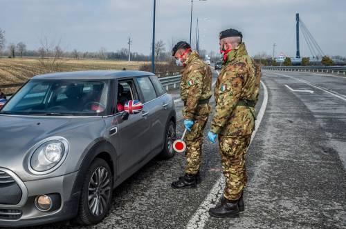 Emergenza coronavirus, scambio di beni al checkpoint di Codogno  5