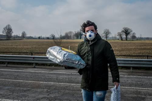 Emergenza coronavirus, scambio di beni al checkpoint di Codogno  11
