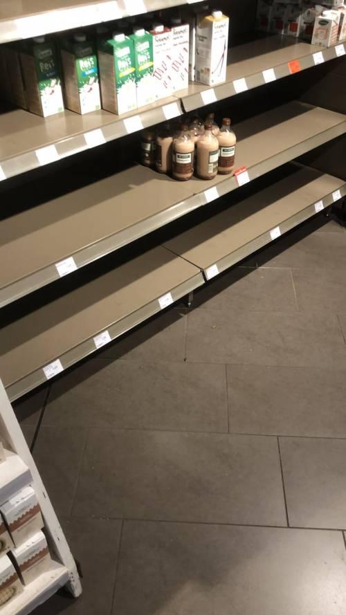 Coronavirus, le immagini dei supermercati presi d'assalto a Berlino 8