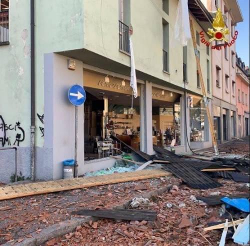 Esplosione in palazzina a Seriate 2