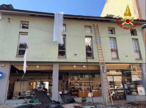 Esplosione in palazzina a Seriate 4
