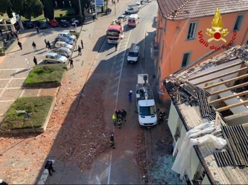 Esplosione in palazzina a Seriate 5