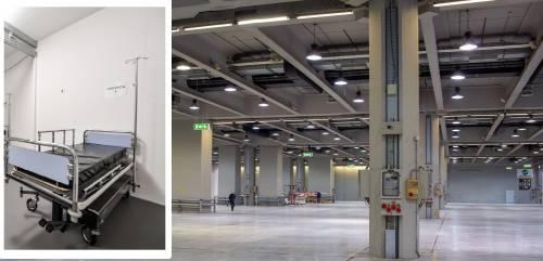 """Il """"miracolo"""" di Milano: già tutto pronto in Fiera per il nuovo ospedale"""
