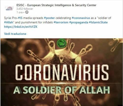 """L'Isis festeggia il coronavirus: """"È una punizione di Allah"""""""