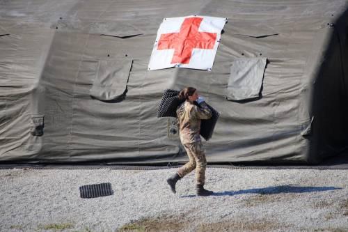 L'impegno delle Forze Armate: portati ventilatori e mascherine