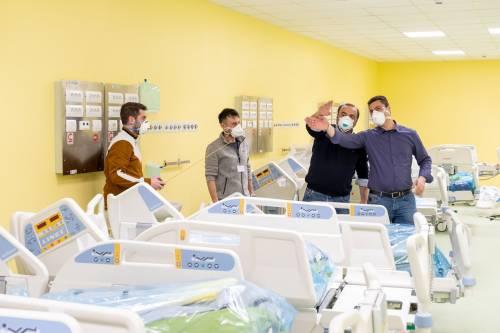 Milano, Terapia intensiva pronta. Costruita in sette giorni