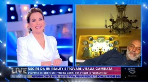 Paolo Brosio si addormenta in collegamento con Live! E il web si scatena