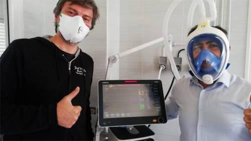 Valvole e maschere 3D donate ai reparti in ginocchio