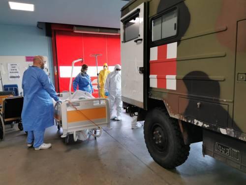 Gli Alpini impiegati in Piemonte per il trasporto dei pazienti 2