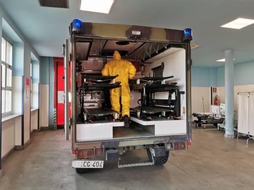 Gli Alpini impiegati in Piemonte per il trasporto dei pazienti 5