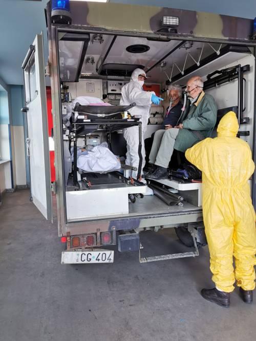 Gli Alpini impiegati in Piemonte per il trasporto dei pazienti 7