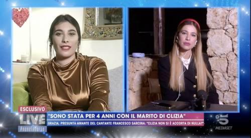 Clizia Incorvaia a confronto con la presunta amante di Sarcina