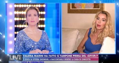 """Valeria Marini: """"Prima del GF Vip non ho fatto il tampone per il coronavirus"""""""
