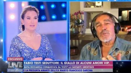 """Gf, Fabio Testi: """"La storia con Adriana? 30 anni fa"""""""