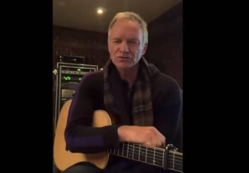 Coronavirus, Sting dedica una canzone all