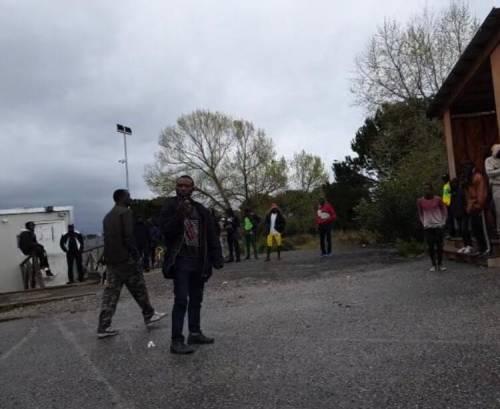 Protesta nella tendopoli di San Ferdinando  2