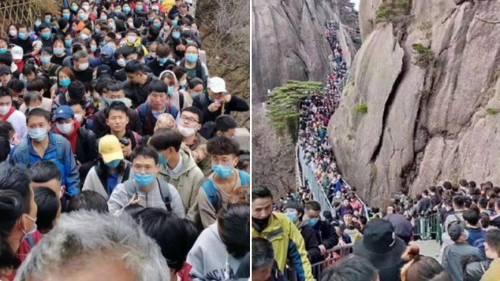 """Cina, oltre 20mila turisti """"prendono d'assalto"""" le Montagne Gialle"""