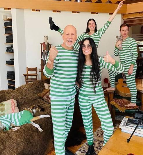 Demi Moore e Bruce Willis organizzano un pigiama party in quarantena