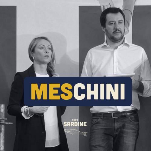 """Le sardine ora passano agli insulti: """"Salvini e Meloni? Meschini"""""""