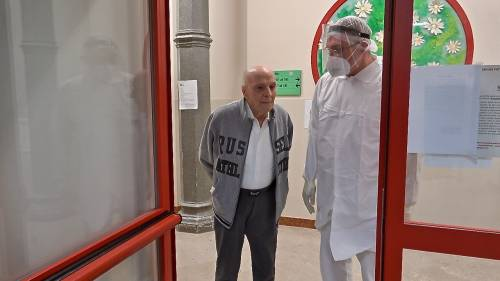 Tullio ex medico di 97 anni isolato come gli altri anziani all'Itis