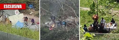 I rom grigliano all'aria aperta: ecco un'altra favela sul Tevere