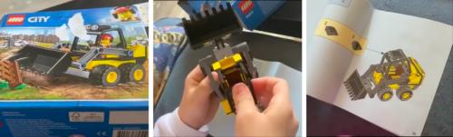 """Salvini costruisce una ruspa Lego con la figlia: """"Il regalo non è casuale"""""""