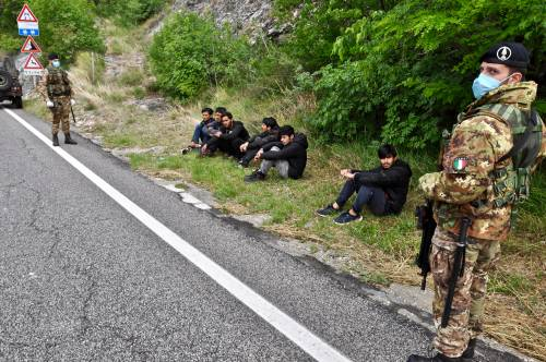Militari impegnati al confine tra Italia e Slovenia 3