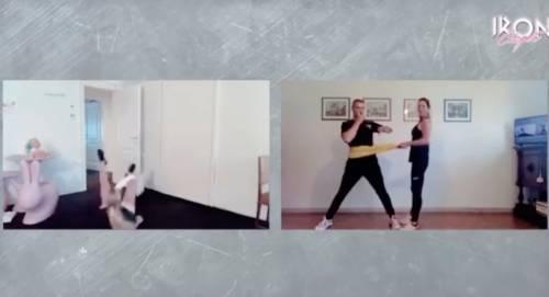 Michelle Hunziker si allena ma qualcosa non va: la caduta è disastrosa -