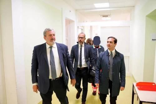 foto archivio Emiliano con il dir.san dell'asl di Bari Sanguedolce e l'on.Pagano
