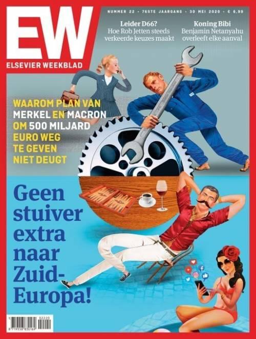 """Copertina choc dall'Olanda: """"Lavoriamo per pagare vacanze al Sud Europa"""""""