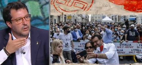 "Battibecco Floris-Salvini: ""Perché si è tolto la mascherina?"""