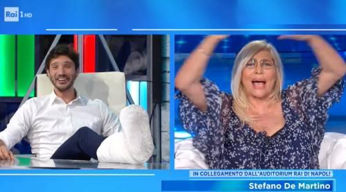 """Mara Venier fuori controllo con De Martino: """"Licenziatemi pure, sei uno stronzo"""""""